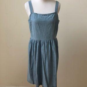 JCrew Factory Chambray Apron Dress - size medium